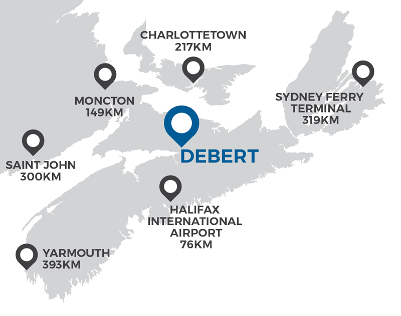 Debert Business Park Proximity Map